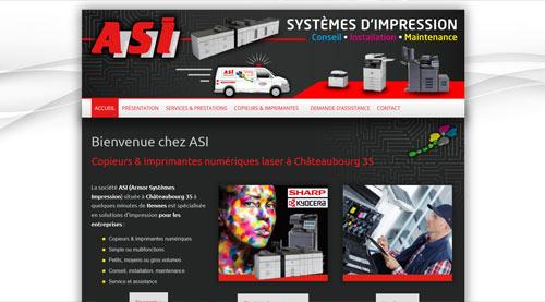 Site internet ASI copieurs et imprimantes à Châteaubourg<br>réalisé par SiteWebconcept à Vitré