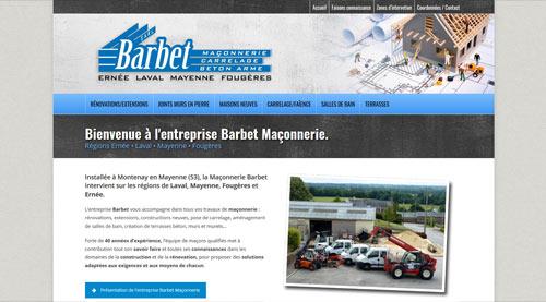 Site internet pour l'entreprise de maçonnerie Barbet<br>réalisé par SiteWebconcept à Vitré