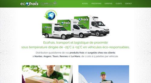 Site internet Ecofrais entreprise de transport et livraison<br>réalisé par SiteWebconcept à Vitré