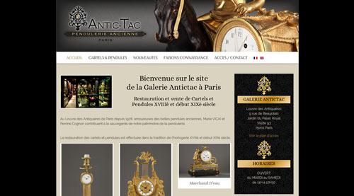 Site internet Antitac galerie d'objets anciens<br>réalisé par SiteWebconcept à Vitré