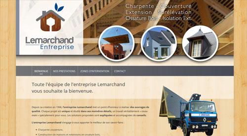 Site internet de l'entreprise Lemarchand Charpente Couverture<br>réalisé par SiteWebconcept à Vitré