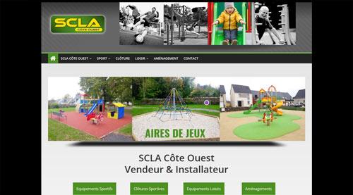 Site internet de SCLA équipements / aménagements sport & loisir<br>réalisé par SiteWebconcept à Vitré