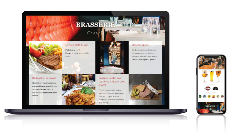 Site internet vitrine bar brasserie bistrot voyageurs LAVAL
