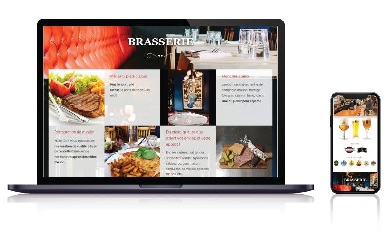 Site internet Bar Brasserie Bistrot des Voyageurs<br>réalisé par <strong>SiteWebconcept,</strong> <strong>Agence Web</strong><br>à <strong>Rueil Malmaison</strong>, <strong>Laval</strong> et <strong>Vitré</strong>