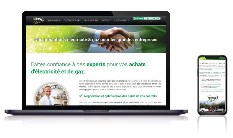 Site internet courtier négociateur Orka's Conseil<br>réalisé par <strong>SiteWebconcept,</strong> <strong>Agence Web</strong><br>à <strong>Rueil Malmaison</strong>, <strong>Laval</strong> et <strong>Vitré</strong>