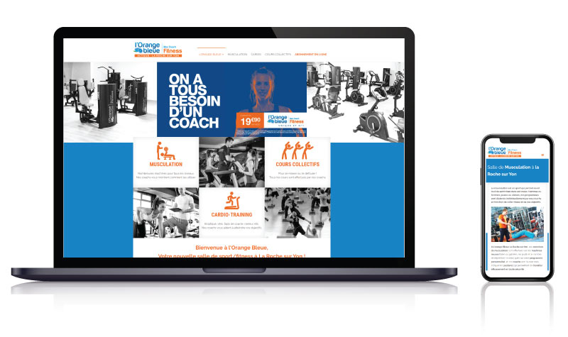 Site internet pour salle de sport à La Roche sur Yon<br>réalisé par <strong>SiteWebconcept,</strong> <strong>Agence Web</strong><br>à <strong>Rueil Malmaison</strong>, <strong>Laval</strong> et <strong>Vitré</strong>