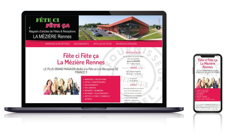 Site internet des magasins Fête çi Fête ça articles de fête<br>réalisé par <strong>SiteWebconcept,</strong> <strong>Agence Web</strong><br>à <strong>Rueil Malmaison</strong>, <strong>Laval</strong> et <strong>Vitré</strong>