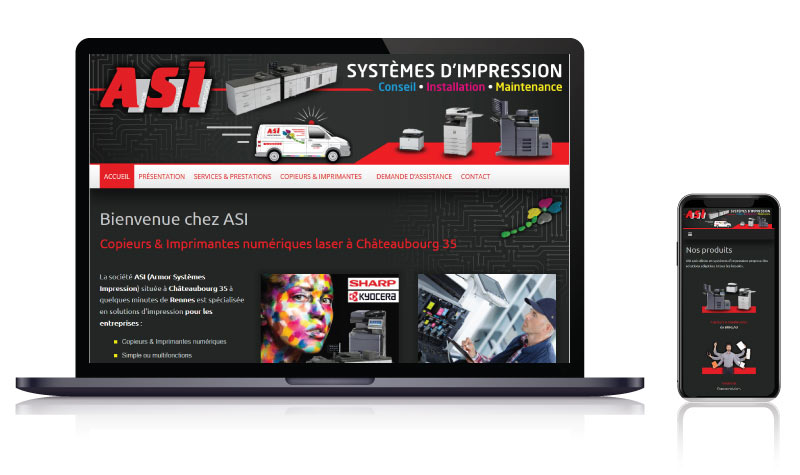 site vitrine fournisseur copieurs imprimantes RUEIL MALMAISON LAVAL VITRE